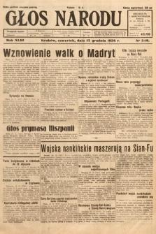 Głos Narodu. 1936, nr346