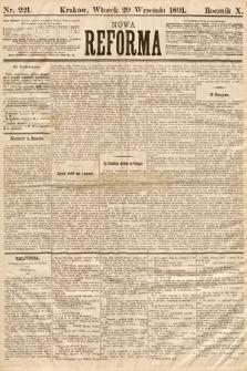 Nowa Reforma. 1891, nr221
