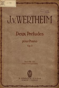 Deux préludes : pour piano : op. 5