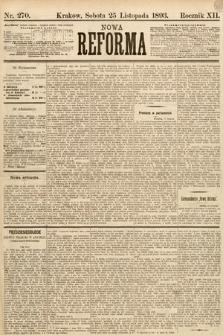 Nowa Reforma. 1893, nr270
