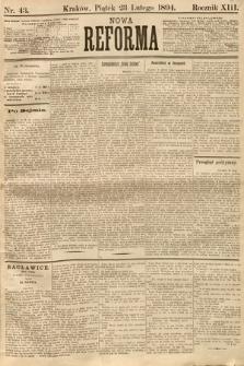 Nowa Reforma. 1894, nr43