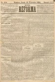 Nowa Reforma. 1894, nr218