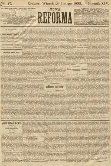 Nowa Reforma. 1895, nr47