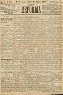 Nowa Reforma. 1895, nr57 i 58
