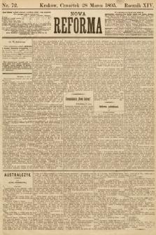 Nowa Reforma. 1895, nr72