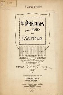 4 préludes : pour piano : op. 2