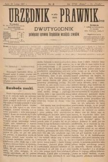 Urzędnik w Połączeniu z Prawnikiem : dwutygodnik poświęcony sprawom urzędników wszelkich zawodów. 1887, nr3