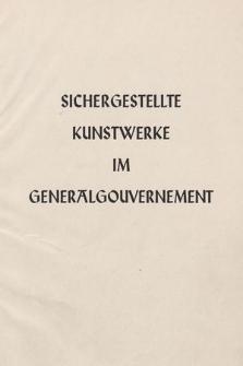 Sichergestellte Kunstwerke im Generalgouvernement