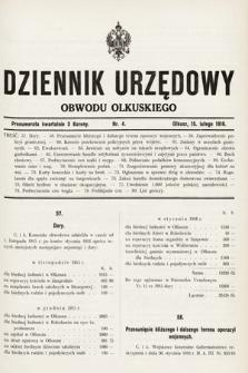 Dziennik Urzędowy Obwodu Olkuskiego. 1916, nr4