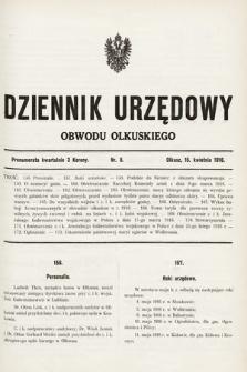 Dziennik Urzędowy Obwodu Olkuskiego. 1916, nr8