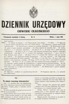 Dziennik Urzędowy Obwodu Olkuskiego. 1916, nr9