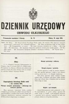 Dziennik Urzędowy Obwodu Olkuskiego. 1916, nr10