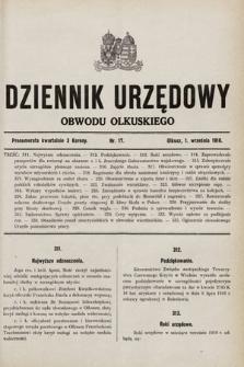 Dziennik Urzędowy Obwodu Olkuskiego. 1916, nr17