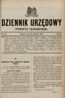 Dziennik Urzędowy Powiatu Olkuskiego. 1917, nr10