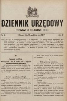 Dziennik Urzędowy Powiatu Olkuskiego. 1917, nr11