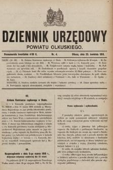 Dziennik Urzędowy Powiatu Olkuskiego. 1918, nr4