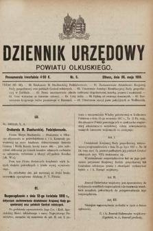 Dziennik Urzędowy Powiatu Olkuskiego. 1918, nr5