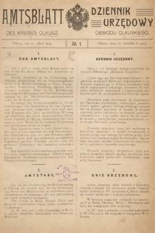 Amtsblatt des Kreises Olkusz = Dziennik Urzędowy Obwodu Olkuskiego. 1915, nr1