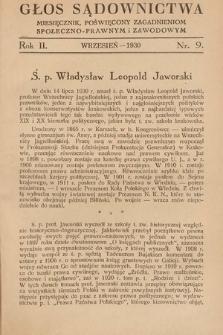 Głos Sądownictwa : miesięcznik poświęcony zagadnieniom społeczno-prawnym i zawodowym. 1930, nr9