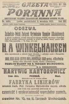 Gazeta Poranna : ilustrowany dziennik informacyjny wschodnich kresów Polski. 1922, nr6486