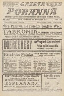 Gazeta Poranna : ilustrowany dziennik informacyjny wschodnich kresów Polski. 1922, nr6488