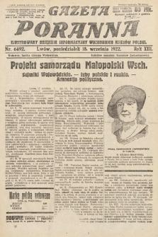 Gazeta Poranna : ilustrowany dziennik informacyjny wschodnich kresów Polski. 1922, nr6492