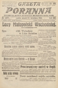 Gazeta Poranna : ilustrowany dziennik informacyjny wschodnich kresów Polski. 1922, nr6495