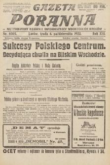Gazeta Poranna : ilustrowany dziennik informacyjny wschodnich kresów Polski. 1922, nr6505