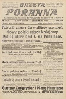 Gazeta Poranna : ilustrowany dziennik informacyjny wschodnich kresów Polski. 1922, nr6514