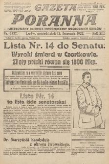 Gazeta Poranna : ilustrowany dziennik informacyjny wschodnich kresów Polski. 1922, nr6537
