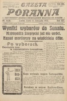 Gazeta Poranna : ilustrowany dziennik informacyjny wschodnich kresów Polski. 1922, nr6538