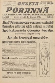 Gazeta Poranna : ilustrowany dziennik informacyjny wschodnich kresów Polski. 1922, nr6539