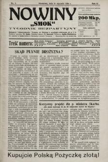 """Nowiny """"Smok"""" : tygodnik bezpartyjny. 1923, nr3"""