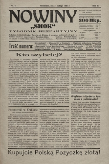 """Nowiny """"Smok"""" : tygodnik bezpartyjny. 1923, nr4"""