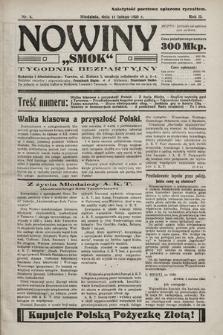 """Nowiny """"Smok"""" : tygodnik bezpartyjny. 1923, nr5"""