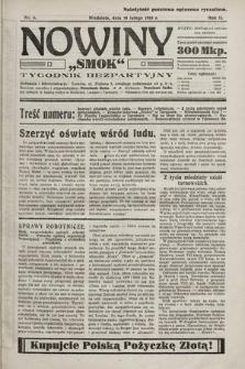 """Nowiny """"Smok"""" : tygodnik bezpartyjny. 1923, nr6"""