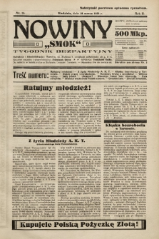 """Nowiny """"Smok"""" : tygodnik bezpartyjny. 1923, nr10"""