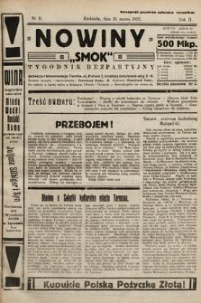 """Nowiny """"Smok"""" : tygodnik bezpartyjny. 1923, nr11"""