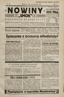 """Nowiny """"Smok"""" : tygodnik bezpartyjny. 1923, nr14"""