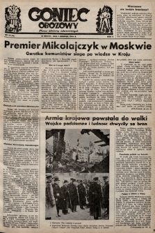 Goniec Obozowy : pismo żołnierzy internowanych. 1944, nr18