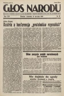 Głos Narodu. 1938, nr12