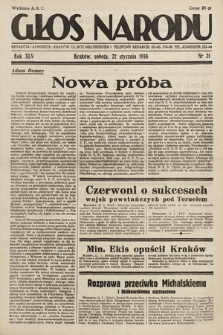 Głos Narodu. 1938, nr21