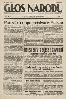 Głos Narodu. 1938, nr27