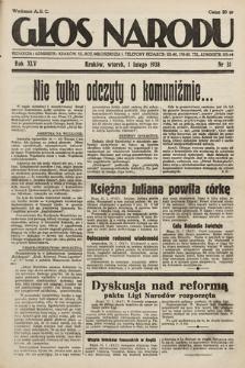 Głos Narodu. 1938, nr31