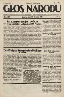 Głos Narodu. 1938, nr33