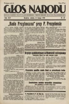 Głos Narodu. 1938, nr42