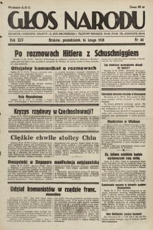 Głos Narodu. 1938, nr44