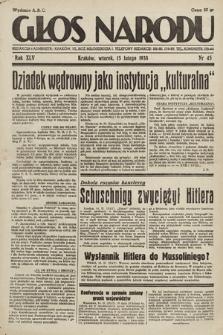 Głos Narodu. 1938, nr45