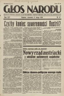 Głos Narodu. 1938, nr47