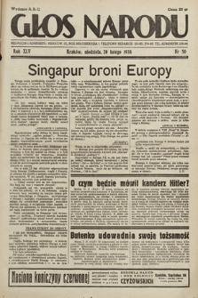 Głos Narodu. 1938, nr50
